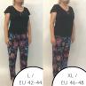 Babella Ingrid-pyjama 2-osainen Black Floral-thumb Kaksiosainen pyjamasetti S/34-36 - 2XL/50-52