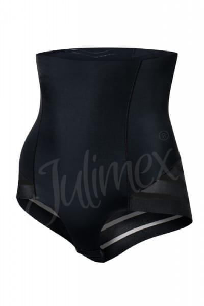 Julimex Lingerie Shape & Chic korkeavyötäröiset meshalushousut musta Korkeavyötäröiset vyötäröä muovaavat ja vatsaa litistävät alushousut S-2XL Mesh-141-BLK