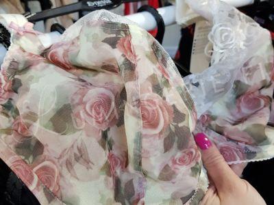 Nessa Rosie Soft -rintaliivit ruusuprintti Kaarituettu, toppaamaton balconette 70-110, D-O N028-500