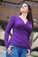 Kopertowka-paita pitkähihainen tummanvioletti