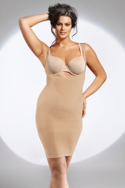 The Body Shape Dress saumaton muotoileva alusmekko beige