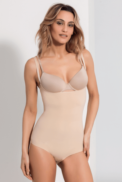 The Magic Body saumaton muotoileva body beige