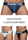 Addicted Mesh bikini 3-pack-thumb Bikini brief 80% Polyamidi, 15% Elastaani, 5% Puuvilla S-3XL AD679P
