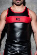 Fetish Rub combi tank top musta-punainen