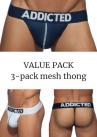 Addicted Mesh string 3-pack-thumb String 80% Polyamidi, 15% Elastaani, 5% Puuvilla S-3XL AD732P