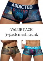 Mesh bokserit push up 3-pack tropical print