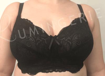 Panache Andorra Soft -kaarituettomat rintaliivit musta Kaarituettomat toppaamattomat rintaliivit joustopitsillä 60-90, D-J 5671-BLK