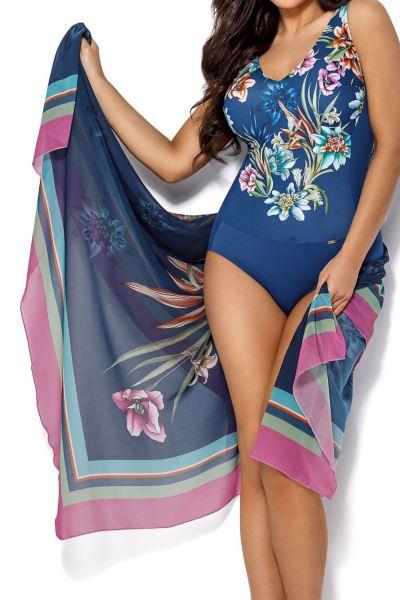 Ava Swimwear Anemone-pareo sinikukka Yhden koon pareo - 130 cm x 160 cm One size PAR-1-ANE