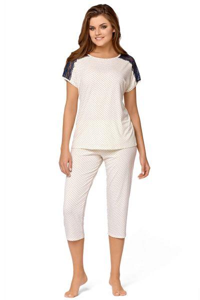 Babella Anna-pyjama 2-osainen luonnonvalkoinen Kaksiosainen pyjamasetti S/34-36 - 2XL/50-52 ECR