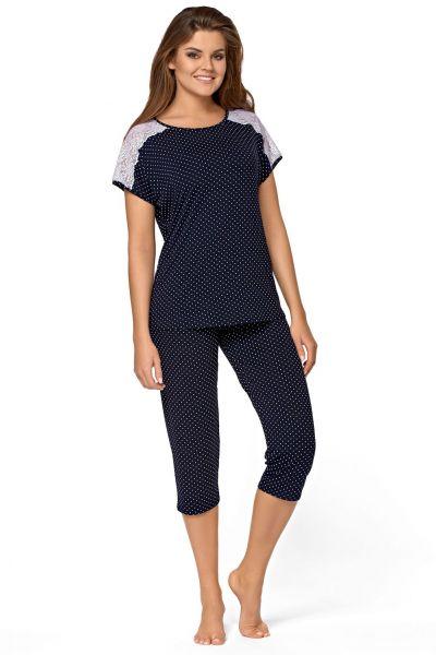 Anna-pyjama 2-osainen tummansininen