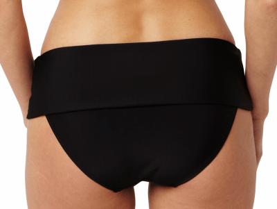 Anya-bikinihousut taittoreunalla musta