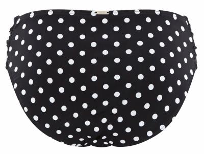 Panache Swimwear Anya Spot Gather Pant -bikinihousut musta-valkoinen  34-46 SW1019