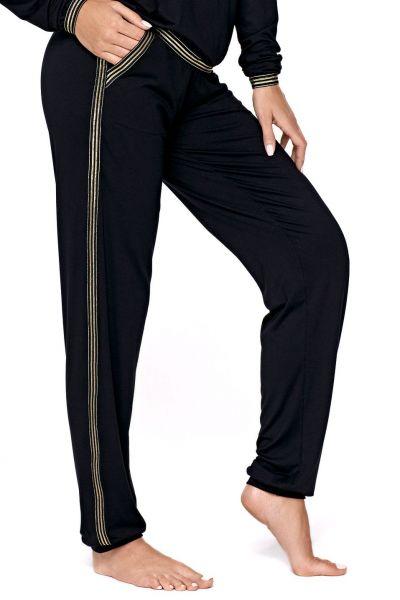 Argo 2-osainen pyjamasetti / oloasu musta-kulta