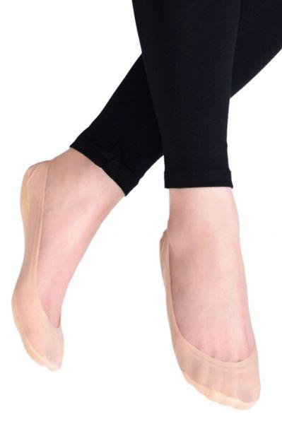 Ballerinasukat puuvillapohjalla beige 1 pr