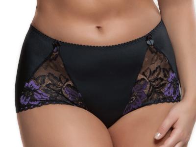 Beate-hipsterhousut musta-violetti
