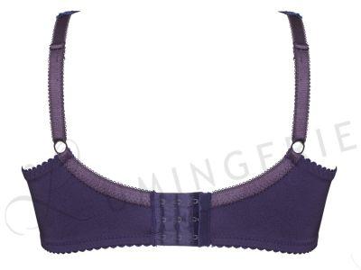 Plaisir Lingerie Beate Soft Full Cup -rintaliivit Purple Kaarituettu, toppaamaton, joustopitsinen täyskuppiliivi 80-105 D-H 619431-PUR