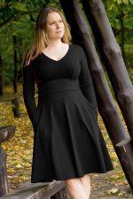 Bermuda-mekko pitkähihainen Simple Black (ENNAKKOTILAUS 3.11.)