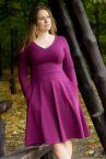 Urkye Bermuda-mekko pitkähihainen Purple Magenta (ENNAKKOTILAUS 3.11.)-thumb Pitkähihainen joustocollegemekko taskuilla 36-46 O/OO, OO/OOO SU-017-FIO-2021