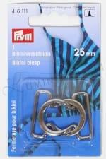 Bikinihakanen 25 mm hopeanvärinen