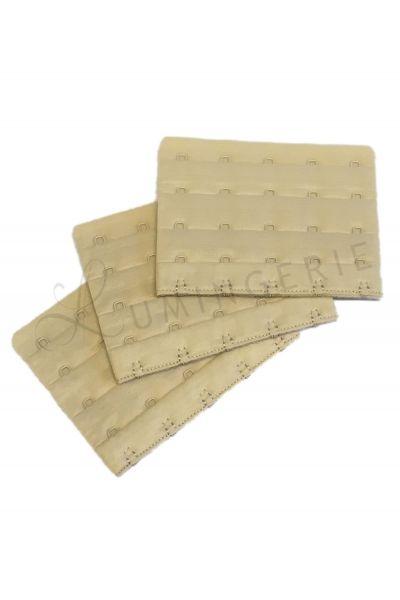 Braza-jatkohakaset rintaliiveille 5 hakaselle 3 kpl paketti beige