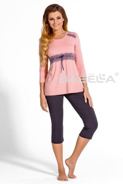Carmella-pyjama 2-osainen pioni-luumu