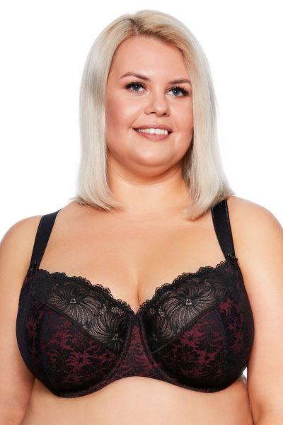 Chantal Soft Maxi -rintaliivit musta-burgundi