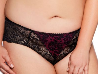 Chantal-alushousut musta-burgundi