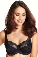 Clara Soft Full Cup -rintaliivit hiilenharmaa-musta