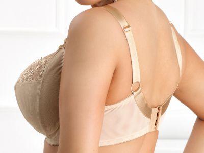 Nessa Clarisse Soft Side Support -rintaliivit Beige Kaarituettu, toppaamaton sivutuettu liivimalli 70-100, D-O N006-507