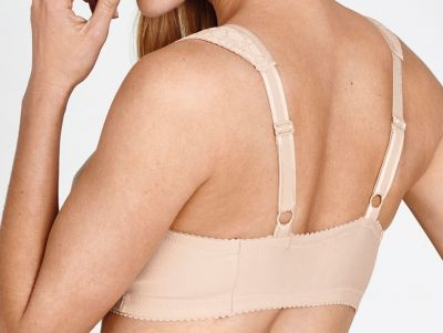 Miss Mary Cotton Lace kaarituettomat edestä avattavat rintaliivit tummansininen Kaaritueton, kokokuppinen edestä avattava liivimalli ekstraleveillä olkaimilla 80-110 D-G MM-2158