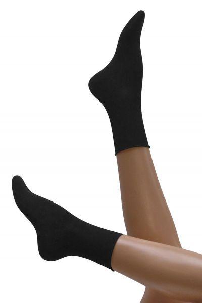 Cette Cotton Melee -nilkkasukat musta Puuvillaiset nilkkasukat, joissa puristamaton sukansuu. 35-38, 39-42 275-12-902
