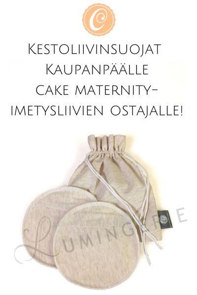 Cupcake-kestoliivinsuojat pussissa kaupanpäälle Cake Maternity-imetysliivien ostajalle
