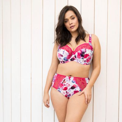 Elomi Morgan UW -rintaliivit Pink Floral Kaarituettu, kokokuppinen ja toppaamaton  70-100, E-O EL4110-PIL