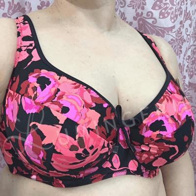 Nessa Swimwear Fidzi Padded-bikiniliivit Floral Kaarituettu, toppaamaton bikiniliivi 70-90, D-N N056-509