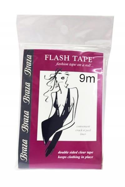 Braza Flash tape -vaateteippi 9 m rullassa