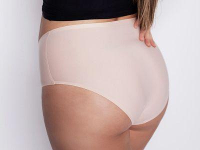 Julimex Lingerie Flexi One Plus Size Maxi Panty -alushousut beige  One size / 2XL-5XL FLEXI-PLUS-MAXI-BEZ
