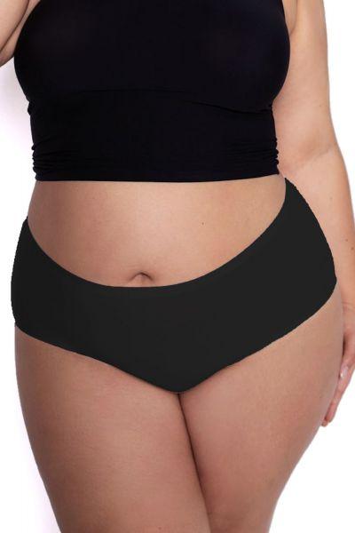 Julimex Lingerie Flexi One Plus Size Maxi Panty -alushousut musta  One size / 2XL-5XL FLEXI-PLUS-MAXI-CZA