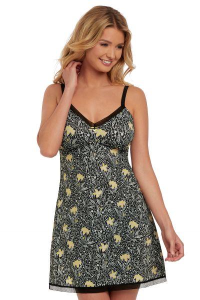 Floral Bonanza chemise musta
