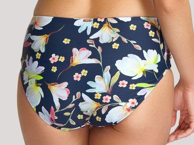 Panache Swimwear Florentine Midi -bikinihousut Navy Floral Brazilianbikinihousut 34-46 SW1056-NAV