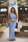 Freya Swim Beach Hut -maksimekko Blue Moon-thumb Kesämekko solmittavalla vyöllä S-XL AS6799-BMN