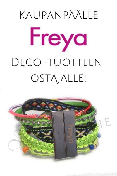 Magneettirannekoru kaupanpäälle Freya Deco-tuotteen ostajalle