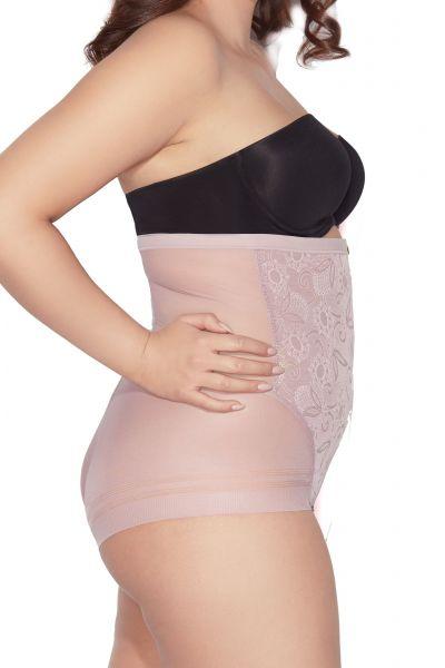 Mitex Glossy Hi Waist korkeavyötäröiset alushousut vaaleanpunainen Kevyesti siloittavat korkeavyötäröiset alushousut S-2XL GHW-P