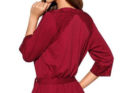 Helen-aamutakki burgundinpunainen