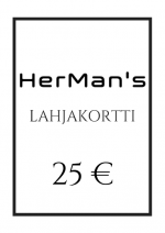 HerMan's lahjakortti 25 €