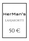 HerMan's Lahjakortti 50 €-thumb