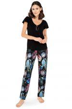 Ingrid-pyjama 2-osainen Black Floral