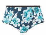 Island Lily Classic-bikinihousut Petrol Floral