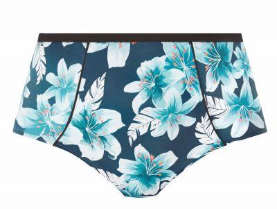 Elomi Island Lily Classic-bikinihousut Petrol Floral  40-52 ES7225-PEO