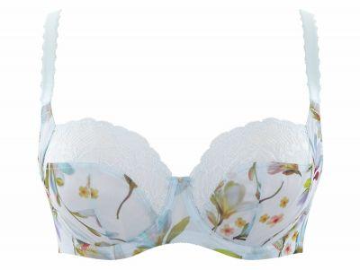 Panache Jasmine Soft Balconnet -rintaliivit Pastel Floral Kaarituettu, toppaamaton balconette 65-85, E-K 6951A-PF