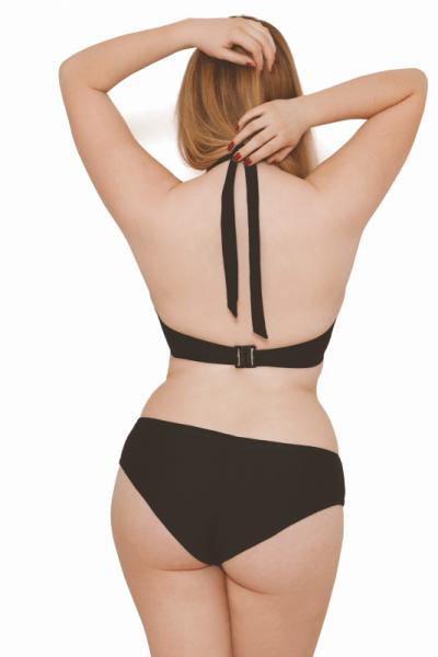 Jetty-bikinihousut taittoreunalla musta